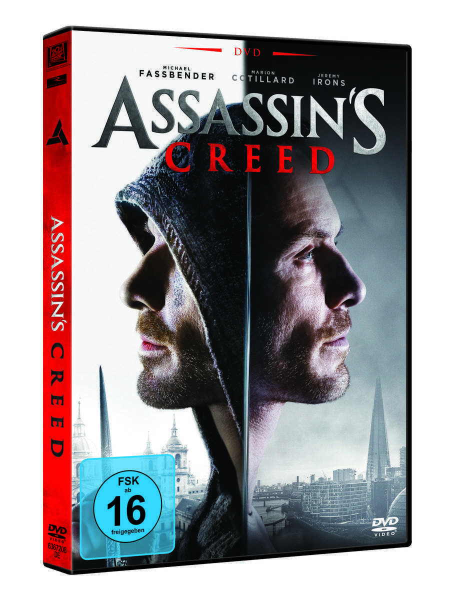 Assassins Creed Film DVD Blue Ray (Netto)