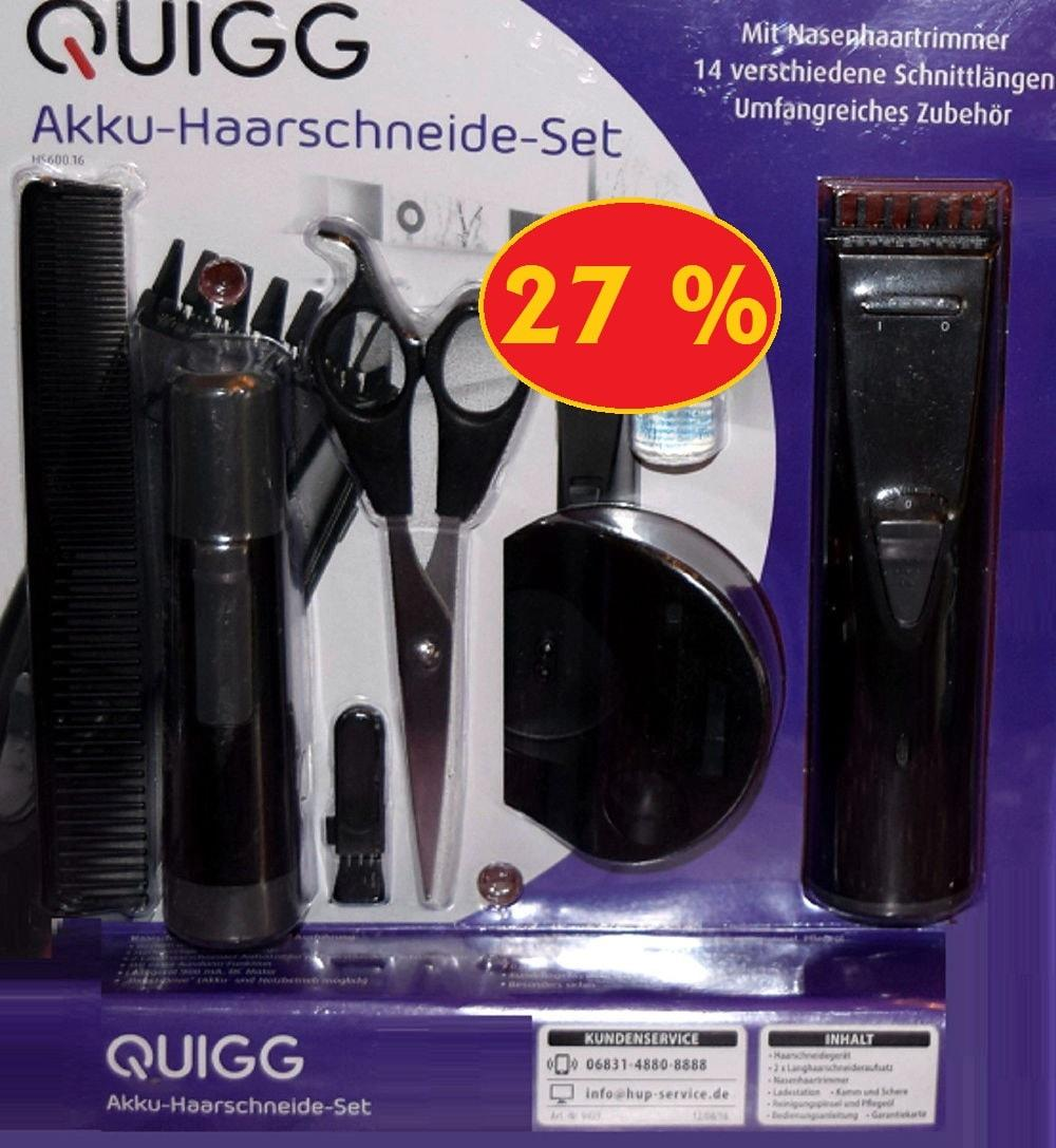 quigg akku haarschneideset 27 g nstiger als bei aldi nord. Black Bedroom Furniture Sets. Home Design Ideas
