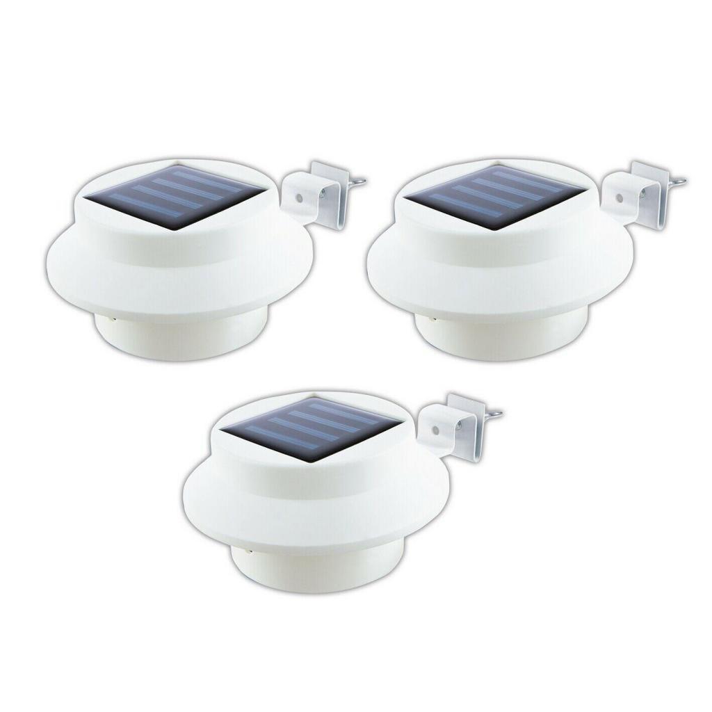 Easymaxx Solar-Dachrinnenleuchten im 3er-Set in Weiß