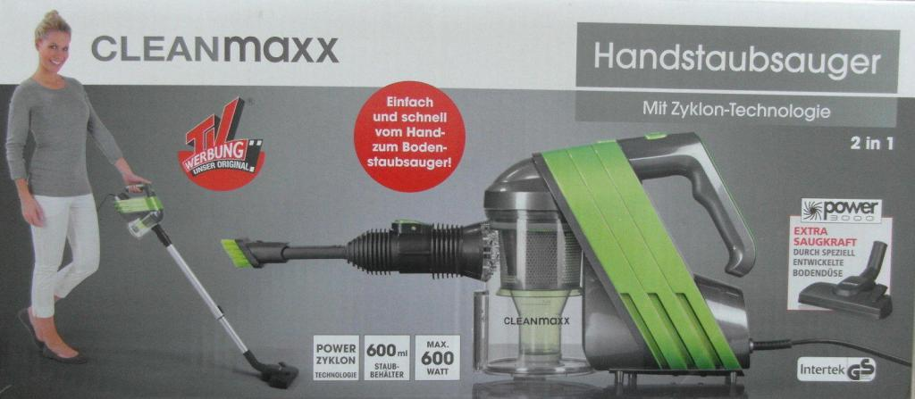 CLEANmaxx Handstaubsauger Zyklon 600 w