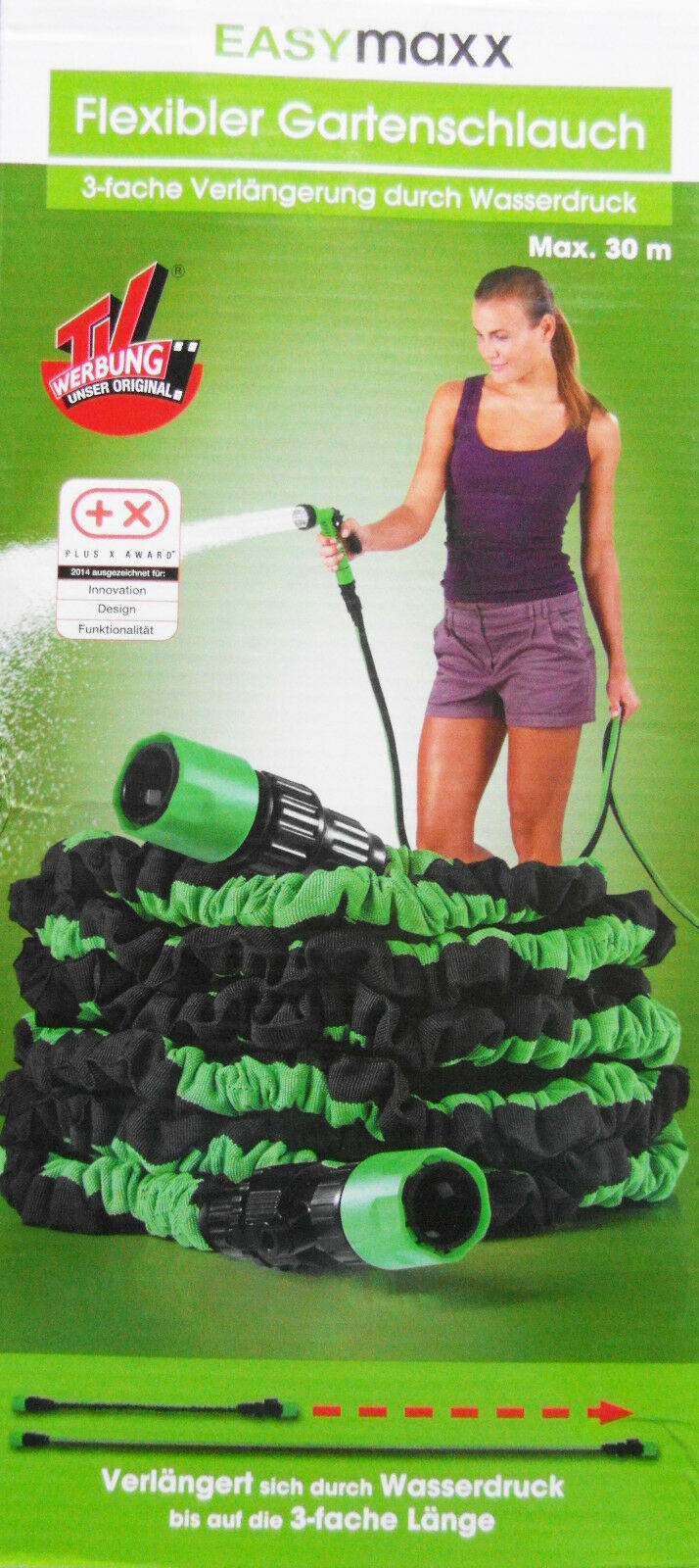 EASYmaxx flexibler Gartenschlauch (30 m) 25% günstiger (Netto)