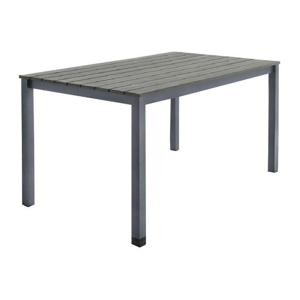 GARDENLINE Alu-Gartentisch mit Kunststoffplatte in Holzoptik