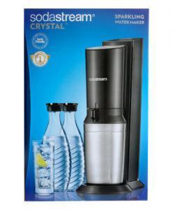 SODASTREAM Wassersprudler CRYSTAL 2.0 mit 1 Zylinder und 2 Glaskaraffen   Penny