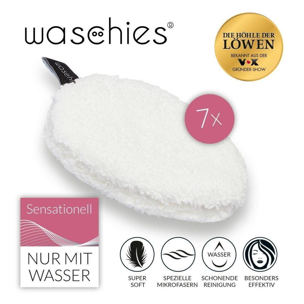 Waschies 7er-Set Abschminkpads in weiß