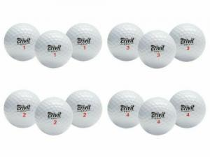 Crivit Premium-3-Piece-Golfbälle 12 Stk