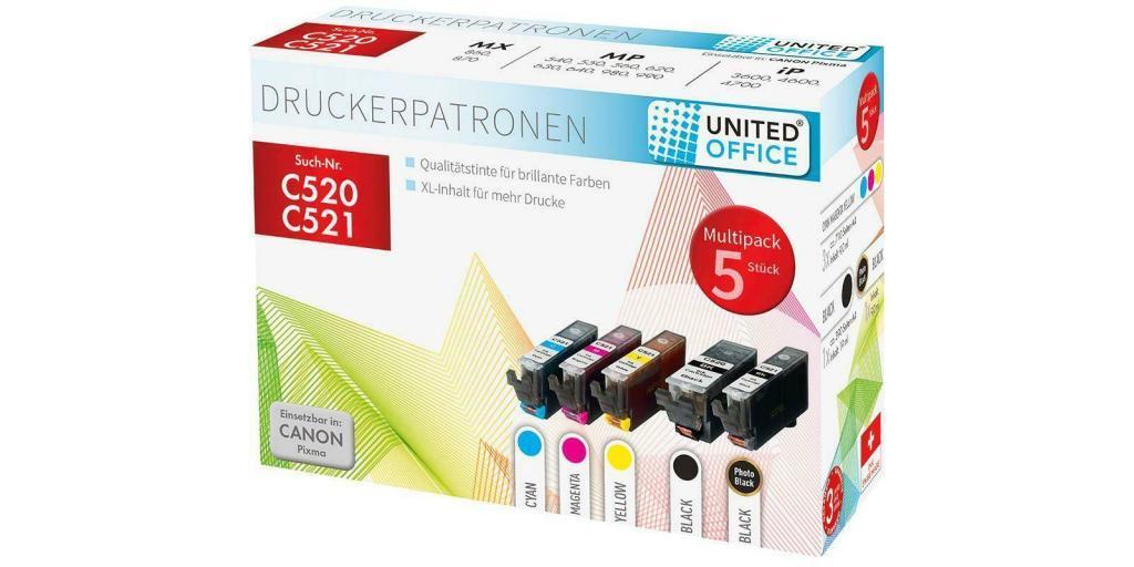 United Office Druckerpatronen für CANON im Multipack (C520)
