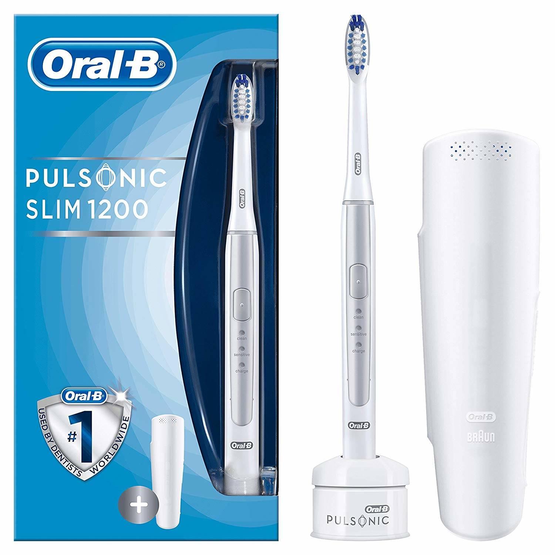 oral b pulsonic slim 1200 elektrische zahnb rste silver im. Black Bedroom Furniture Sets. Home Design Ideas