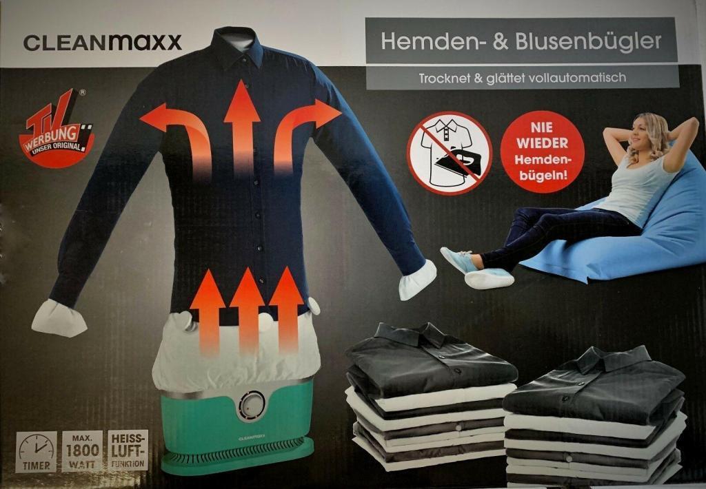 Cleanmaxx Bügler für Hemden und Blusen