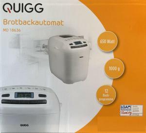 Quigg Brotbackautomat MD 18636 von Aldi Nord: Erfahrungen und online kaufen