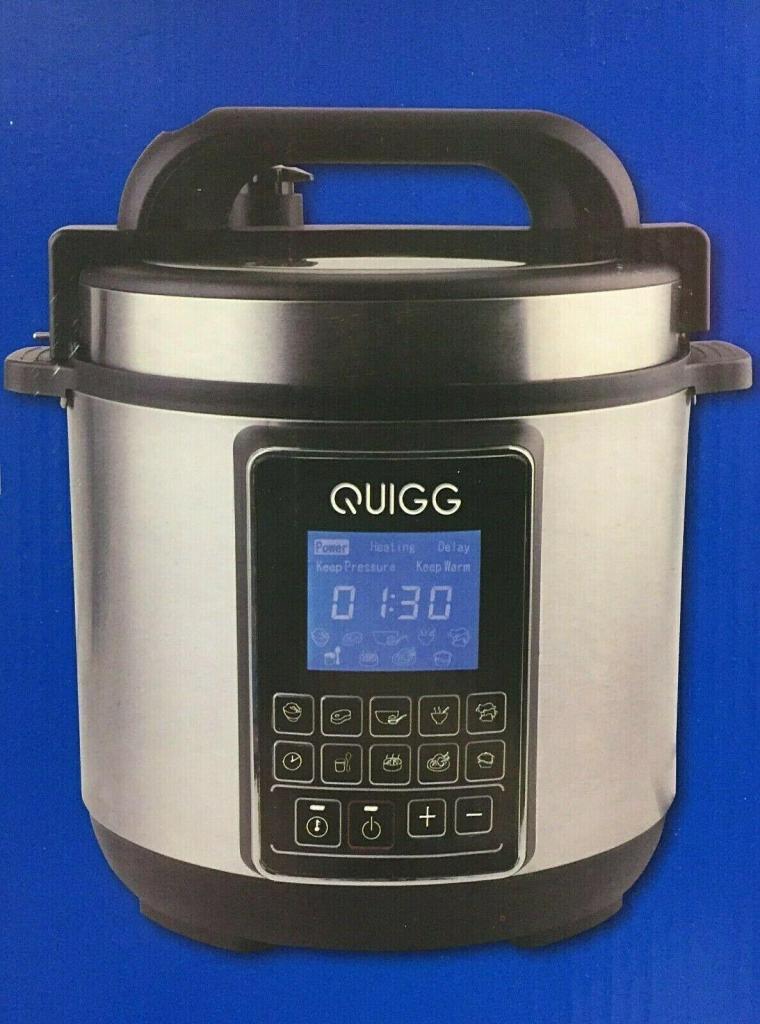 QUIGG Elektrischer Schnellkochtopf 900 W 5 Liter