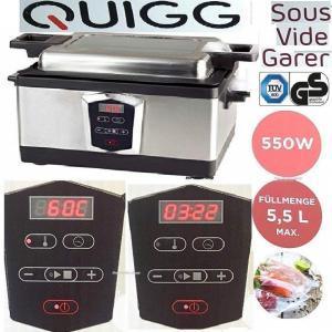 Quigg Sous Vide Garer 550 Watt 5,5 l von Aldi Nord billig kaufen | Test