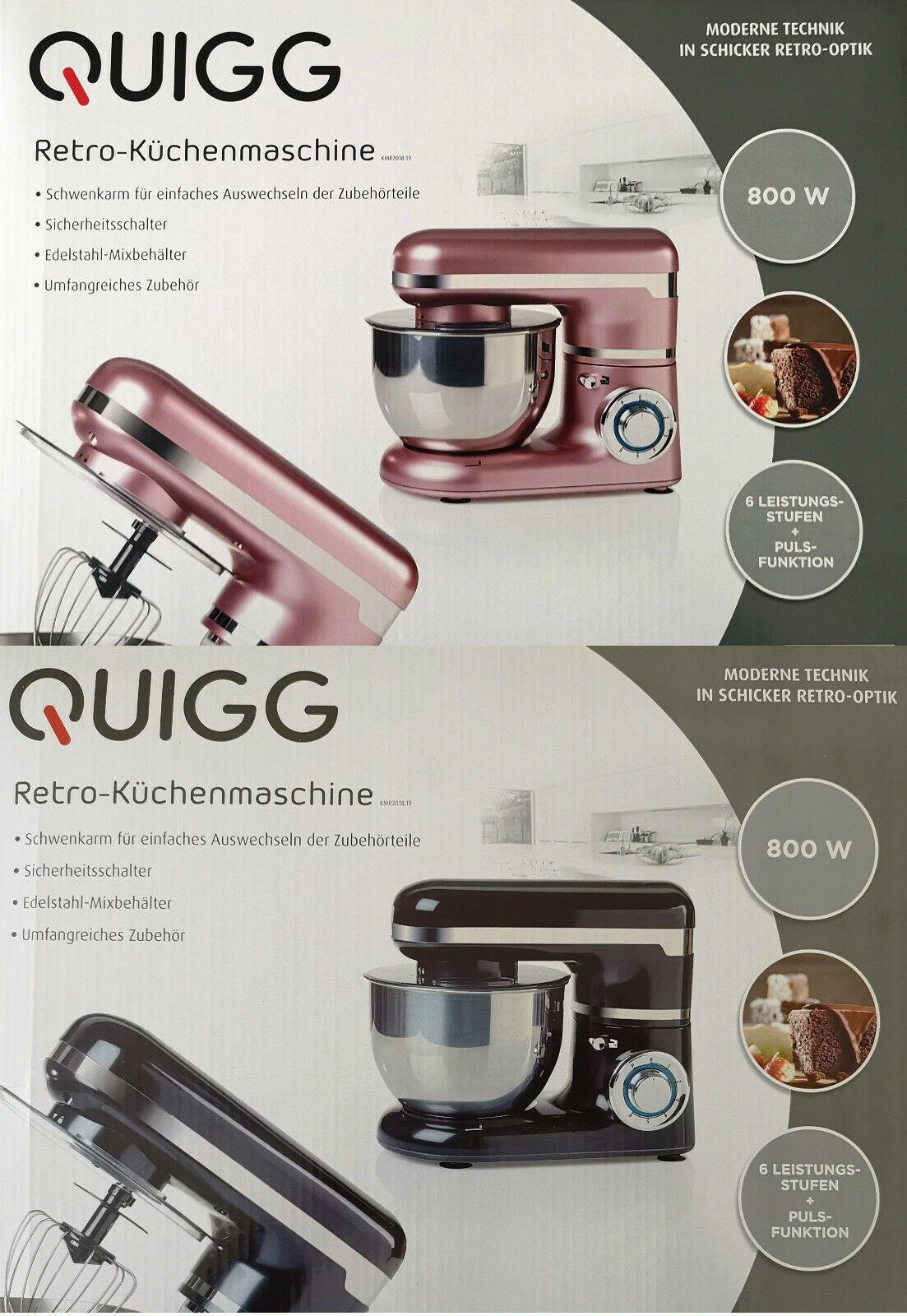 Quigg Retro Küchenmaschine 800 Watt
