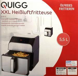 QUIGG XXL Heißluftfritteuse GT-AF-01 von Aldi billig online kaufen
