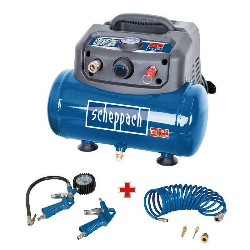 Scheppach HC06 Kompressor inkl. 6-tlg. Zubehör-Set