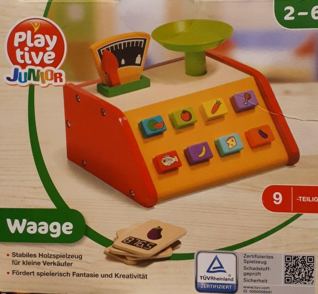 Playtive Junior Holz-Waage für Kaufladen