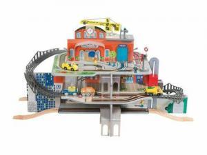 Lidl: Playtive Junior XXL Holzbahnhofset günstig online kaufen