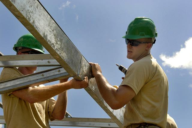 Handwerker auf Baustelle