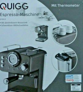 Aldi: Quigg Espresso-Maschine für kleines Geld kaufen & Test