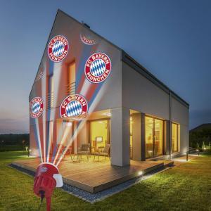 FC Bayern LED-Motivstrahler 7,5W Rot