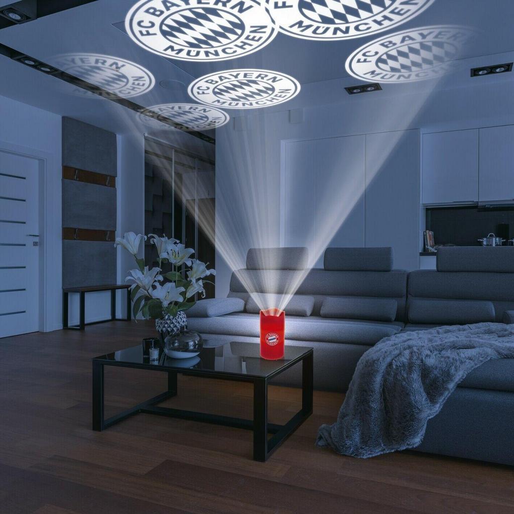 FCB LED-Echtwachskerze Projektor 3V Rot mit Logo