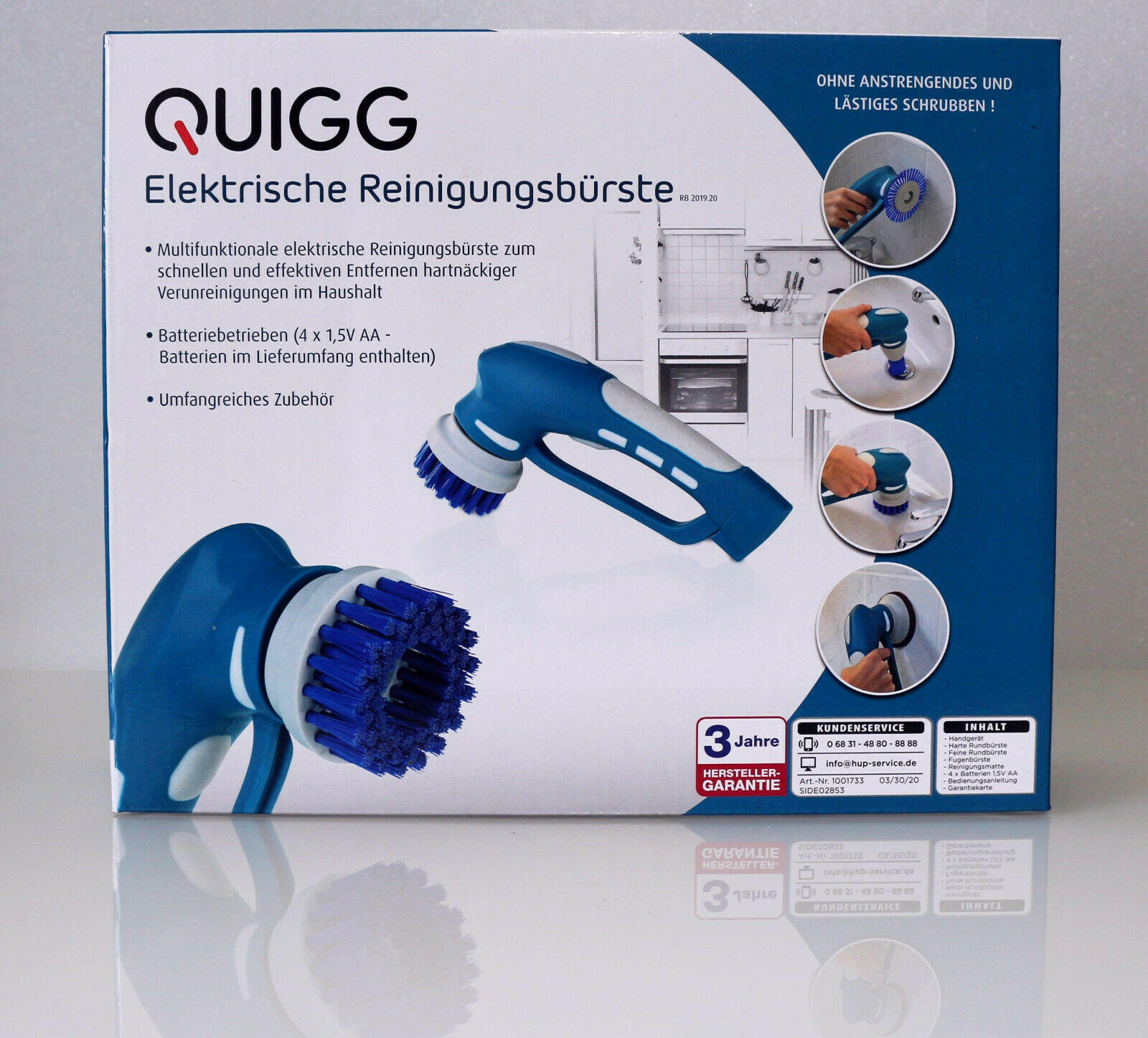 Quigg Elektrische Reinigungsbürste von Aldi: Test, Bewertung und Erfahrungen
