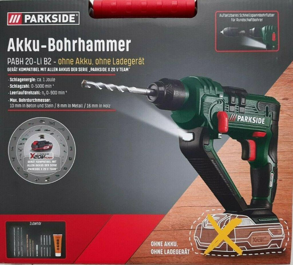 Parkside Akku-Bohrhammer PABH 20-Li B2