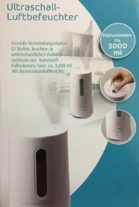 QUIGG Ultraschall Luftbefeuchter von Aldi: Test, Bewertung und Erfahrungen