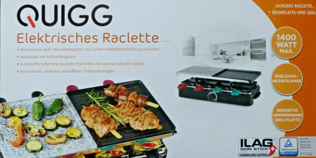 Quigg Elektrisches Raclette 1400W